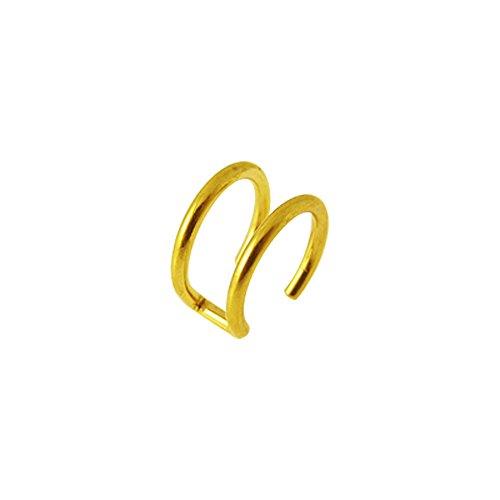 Gold eloxiert doppelt Closure Ring 316L chirurgischer Stahl gefälschte Knorpel Helix Piercing