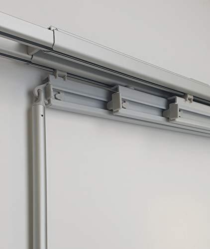 MADECOSTORE - Riel de aluminio extensible para paneles japoneses de 60 cm – de 140 a 170 cm (3 vías)