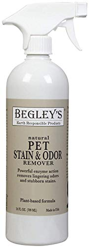 Begley's Best Natural Pet Stain and Odor Remover - 24 Ounce - Environmentally Responsible Plant-Based Formula, Cleans Tile, Wood, Carpet, and Upholstery