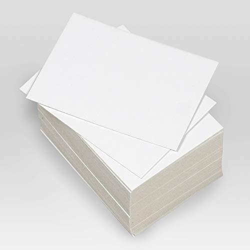 250 Tarjetas de visita blancas lisas,85x55 mm (Tamaño DNI) Etiquetas de Cartón rígido 350 grs, satinado, para escribir, felicitación, profesionales