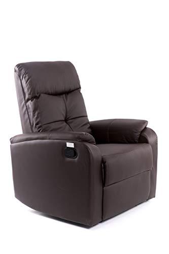 Sillón Relax Oslo - con reclinación Manual 3 Posiciones - Color Marrón