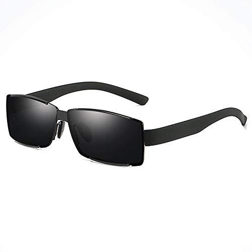 Zhhhk Protección UV for Los Hombres Gafas De Sol for Conducir Playa De Viaje Espejo Marco Cuadrado Deportes Al Aire Libre Deportes for Pescar Gafas De Sol Polarizadas Dentro De La Película Azul UV400