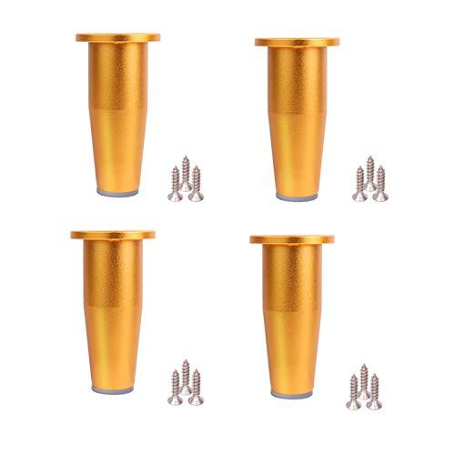 4 piezas de patas de muebles de aleación de aluminio, patas de apoyo ajustables, patas de armario de escritorio, patas de sofá, patas de gabinete de baño, patas ajustables para mesa de café (80 mm)
