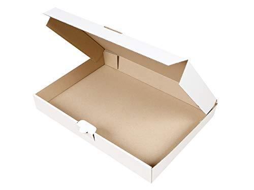 50 Maxibriefkartons 350 x 250 x 50 mm weiß | Versandkarton DIN A4 | geeignet für Warensendung mit DHL | wählbar 25-2000 Kartons