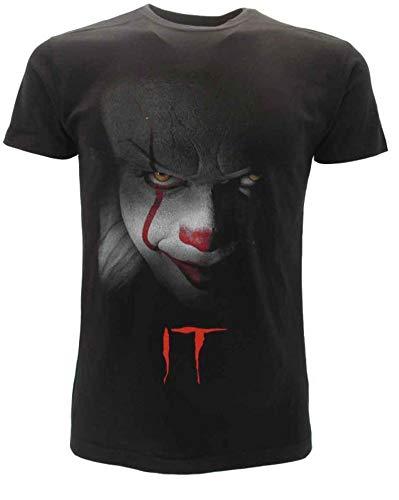 It T-Shirt Originale Clown Film Horror Stephen King Maglia Prodotto Ufficiale (M)
