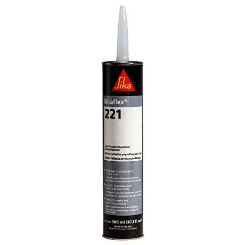 Sikaflex-221 Polyurethane Sealant/Adhesive, 10.1 fl. oz Cartridge, White