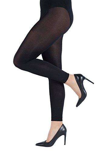 Ulla Popken Damen große Größen bis 62 | Strumpf-Leggings in schwarz | Strumpfhose | Stretch-Komfort | 60 DEN | strapazierfähig | schwarz...