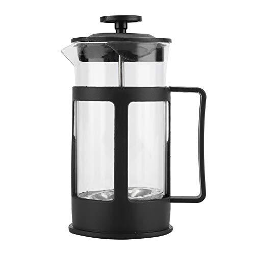 Cafetera, botella transparente de café de acero inoxidable hecha de acero inoxidable y vidrio transparente