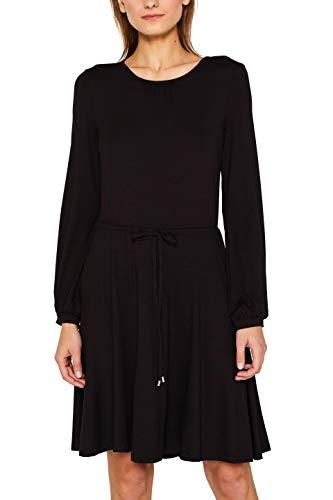 ESPRIT Damen 089Ee1E023 Kleid, Schwarz (Black 001), Small (Herstellergröße: S)