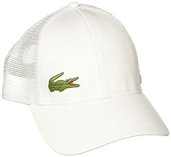 Lacoste Mens Sport Gabardine And Mesh Tennis Cap Baseball Cap White One Size