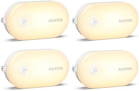 AUVON Bright Motion Sensor Night Light Plug in 120 Lumens Dimmable Smart LED Nightlight Plug product image