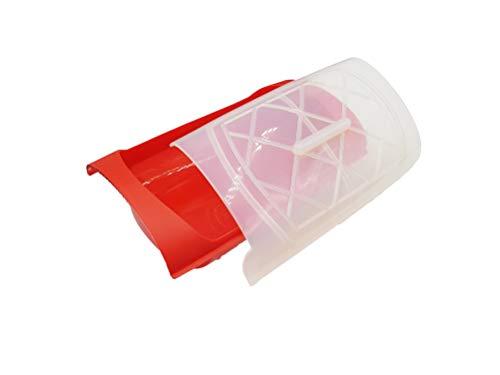 Mun Home Vaporera Color Rojo | Estuche de Silicona para Microondas y Hornos | Cocina al Vapor | Vaporera Libre de BPA | Antiadherente | Soporta hasta 230º Grados.