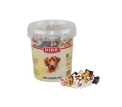 DIBO Mini - Leckerli - Mix, 4 x 500g - Eimer, Leckerli, Belohnung für Hunde, Hundefutter