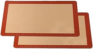 Silicone Baking Mat Non-Stick, Set of 2 Half Sheet Heat Resistant Liner,Cookies, Meats, Vegetables, Pastries,Reusable, Ec...