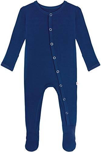 Posh Peanut Baby Rompers Pajamas - Newborn Sleepers Boy Clothes - Kids One Piece PJ - Soft Viscose from Bamboo (Sailor Blue, 0-3 Months)