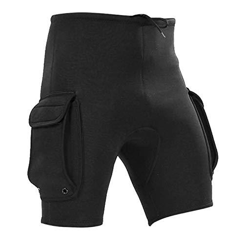 DAUERHAFT Pantalones de Buceo con Bolsillo Diseño de Corte ergonómico Pantalones Cortos de Buceo, para Kayak, para esnórquel(M)