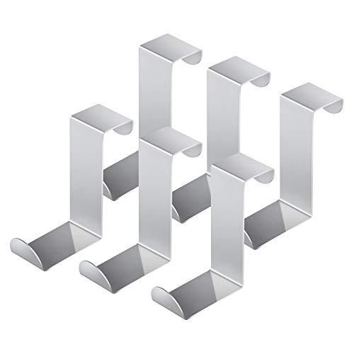 6 Stück Türhaken Edelstahl Kleiderhaken Tür Ohne Bohren Türhaken Rückseite Geeignet für Türen, Schränke, Küchen, Badezimmer, Kommodenschublanden