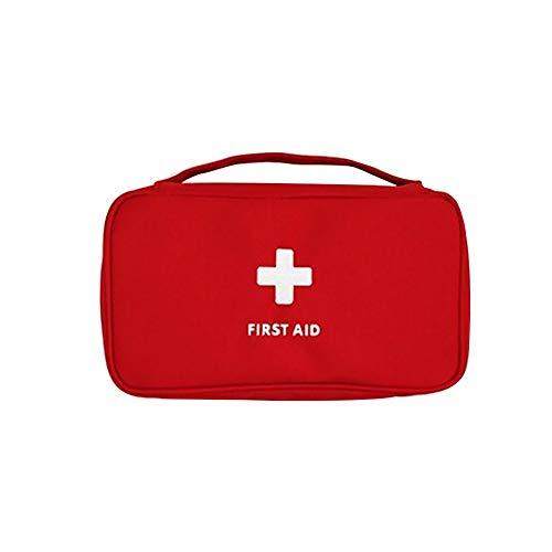 Sungpunet Erste-Hilfe-Tasche leer leichtes Oxford Erste-Hilfe-Kit für roten Notfall Autoreisebüro Familie