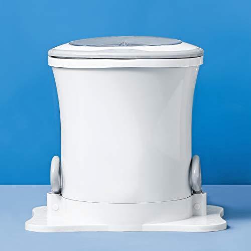 Kacsoo Secadora de ropa Secadora de ropa portátil mini manual, Secadora centrífuga de alta velocidad, No es necesario usar electricidad (Blanco)