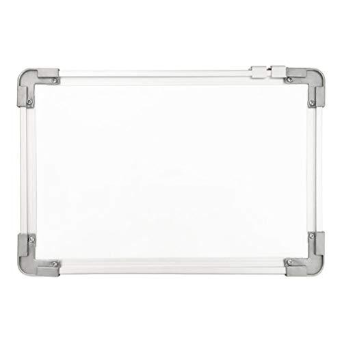 STOBOK Dubbelzijdig Magnetisch Whiteboard Drywipe Opknoping Bericht Schrijfbord Ezel Voor Thuis School Kantoor 20X30cm (Wit)