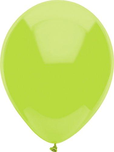 partymate 30,5cm rund Farbe Latex Luftballons, 15Zählen, helle weiß 100 Count Kiwi-Limette