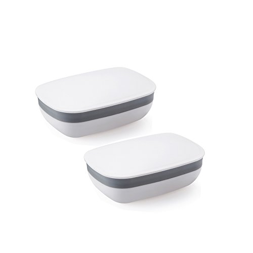 Soap Box Soap Holder Soap Rack, 2 Pack White Eunion Soap Case for Home Outdoor Hiking Camping Gym