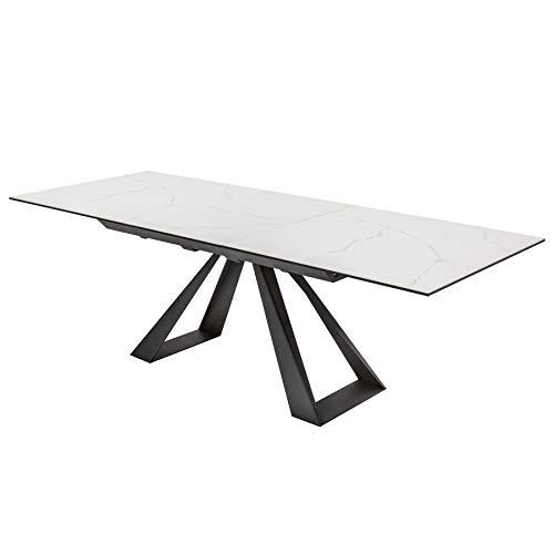 riess-ambiente.de Ausziehbarer Esstisch Concord 180-230cm Marmor-Optik aus Keramik Esszimmertisch Konferenztisch Tisch