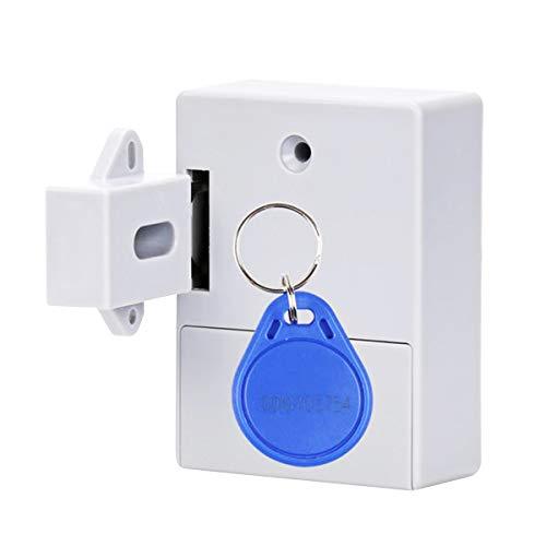 Festnight Verborgen ladevergrendeling, Smart Sensor Cabinet Lock Adhesive verborgen ladevergrendeling schoenenkast kledingkast badkamer inductieve digitale blokkering