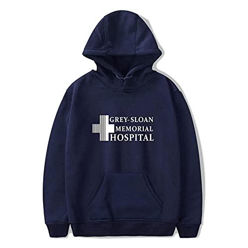 Grey'S Anatomy Hoodie Unisex Pullover Print Coat Regalos Moda Casual con Capucha Ropa Unisex para Hombres y Mujeres