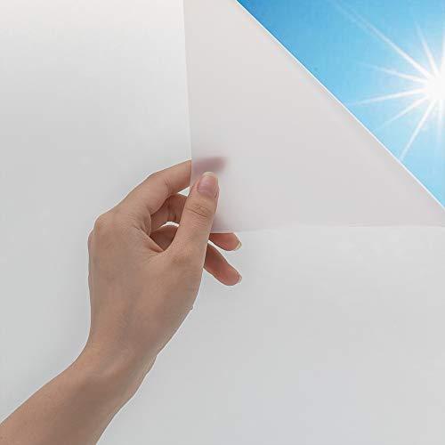 FUUMIY Fensterfolie Milchglasfolie Selbstklebend Sichtschutzfolie,Verdicken Blickdicht Anti-UV Privatsphäre Schutzfolie,Mattierte Fenster Folie Dekoration für Büro,Bad,Küche(Weiß,90x200cm)