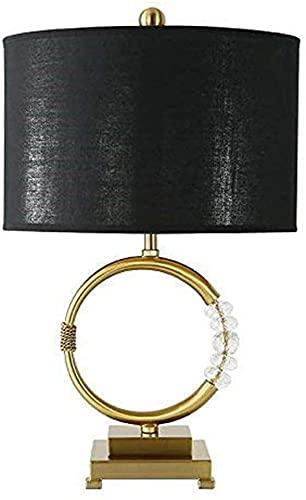 Rnwen Nórdico Creativo Simple decoración de Moda Cristal Dorado lámpara LED Modelo habitación Sala de Estar Dormitorio lámpara de Mesa 42 * 55