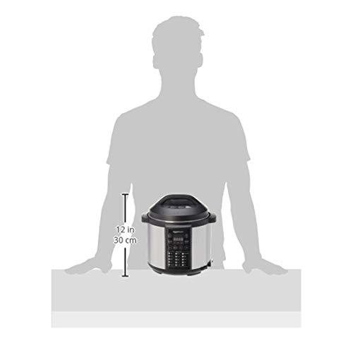 AmazonBasics - Vaporiera elettrica multiuso 23 in 1, 5,5 litri, 1.000 W, in acciaio inossidabile spazzolato, con ricettario incluso