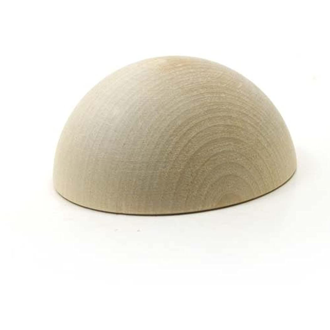 Mylittlewoodshop Pkg of 3 - Split Ball - 3 inches in diameter and 1-1/2 inches thick unfinished wood (WW-CPB300-3)