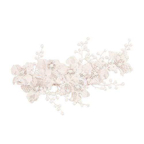 Jhlwls Coiffe De Mariée Élégant Mariage Dentelle Fleur Barrettes Pince À Cheveux De Mariée Femmes Casque Bal Robe De Soirée Prop Faveurs