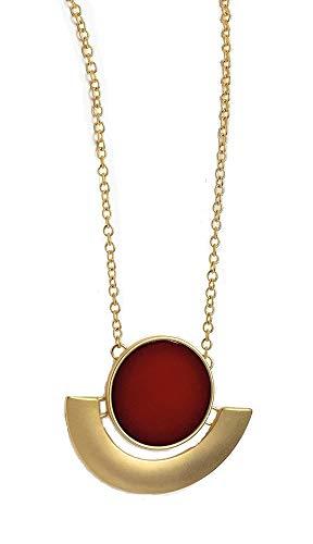 Collana con ciondolo a catena color oro opaco, per costume da donna, ragazza, donna