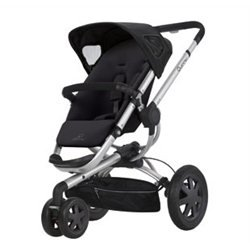 Quinny 60355780 Buzz 3 Kinderwagen, Farbe: Rocking Black