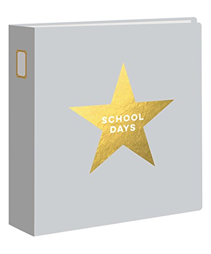Studio Calico 332541 10 Page Darcy Gold Foil Glossy School Days Protectors Handbook Album, 9 x 12