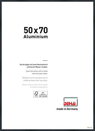 DEHA Aluminium Bilderrahmen Tribeca, 50x70 cm, Struktur Schwarz Matt
