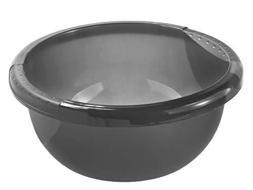 Rotho Daily Becken / Spülwanne 4l rund, Kunststoff (PP) BPA-frei, anthrazit, 4l (29,0 x 29,0 x 12,0 cm)