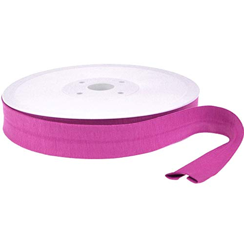 Die Stofftante Jersey Schrägband / 1 m/Meterware/viele Farben (pink 062)