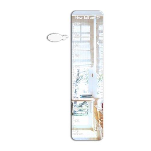 Mungai Mirrors - Espejo con medidor (vidrio acrílico), diseño con texto en inglés