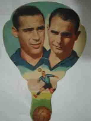 PAI- PAI antiguo de publicidad, fotos futbolistas: PANIZO (Barcelona), IGOA (Valencia)