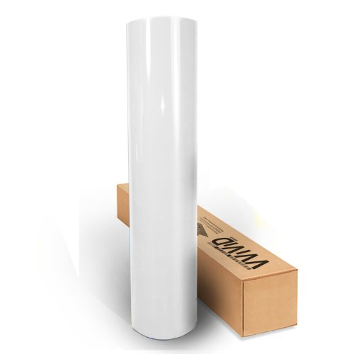 VViViD White High Gloss Realistic Paint-Like Microfinish Vinyl Wrap Roll XPO Air Release Technology (1ft x 5ft)