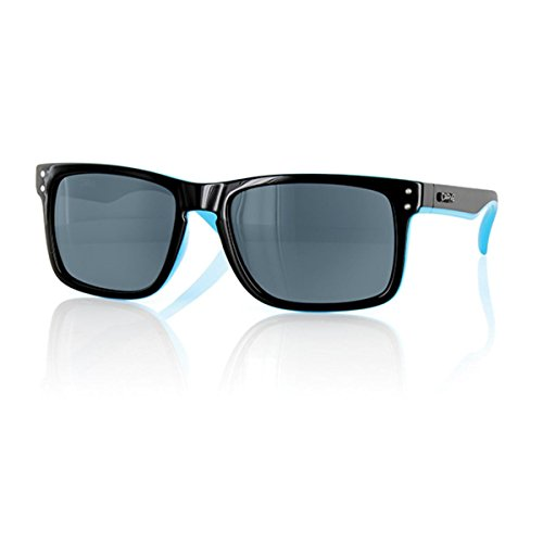 Carve Goblin Gafas de sol, Black/Blue Polarize, 54 Unisex