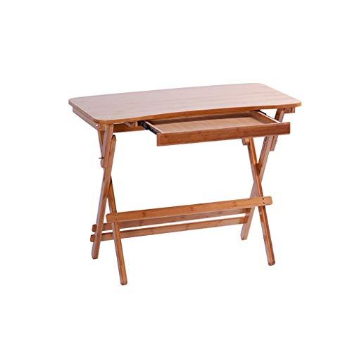 ZHAOSHUNLI Table Pliante Table d'étude Enfants Bureau Écrit Bureau Accueil en Bois Massif Bureau de Levage avec tiroir (Color : Arc Edge, Size : 70 * 40*(55~73) cm)