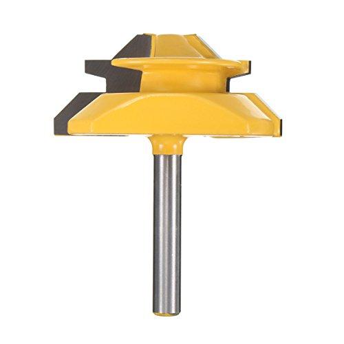 45 Grad Fräser, Essort 45 Degree Router Bit, 1/4'' Schaft Holbearbeitung Holzfräser Konterprofilfräser für Oberfräse Graviermaschine Trimmmaschine