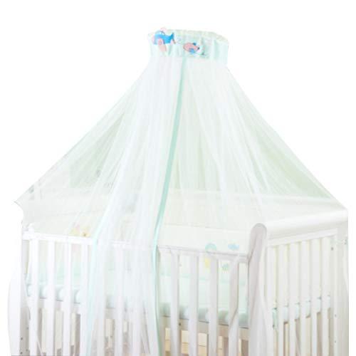 NUOBESTY 1 Unid Cuna Mosquitera Dosel Cama de Bebé Mosquitera Cortina Mosquitera para Bebés Bebés Hogar Niño Pequeño (Blanco)