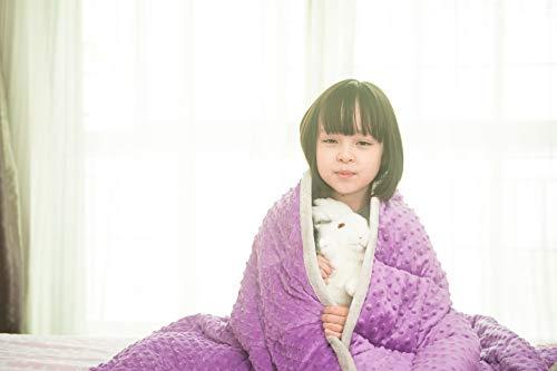 Daverose Schwere Decke Erwachsene und Kinder 5.4 kg 122 * 183cm Weighted Decke Decke Gewichte Violett&Hellgrau ZLT-LG122