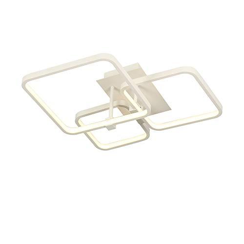 MUMENG Moderne Deckenleuchte LED Schlafzimmer Rechteck Deckenlampe Indirektes Licht Metall Acryl Beleuchtung Wohnzimmer Lampe Esszimmer Deckenleuchtung 50W 4000K Tagelicht