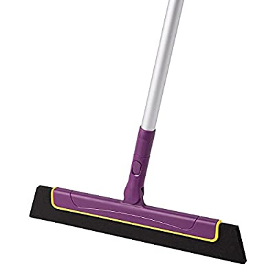 """CLEANHOME Mini Shower Floor Squeegee Broom to Remove Water on Tile Floors with 51"""" Long Handle Professional for Bathroom, Kitchen, Pool Deck Squeegee"""